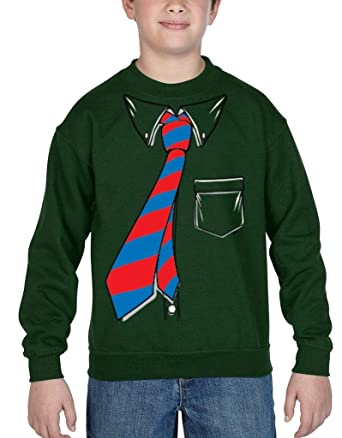 shop4ever ® Crewnecks esmoquin de la camisa y corbata Tuxedo ...