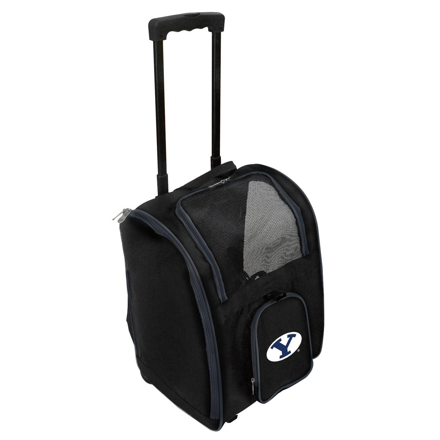 Denco NCAA BYU Cougars Premium Wheeled Pet Carrier
