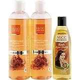 VLCC Hair Fall Control Shampoo (Buy 1 Get 1) and Ayurveda Hair Oil Combo