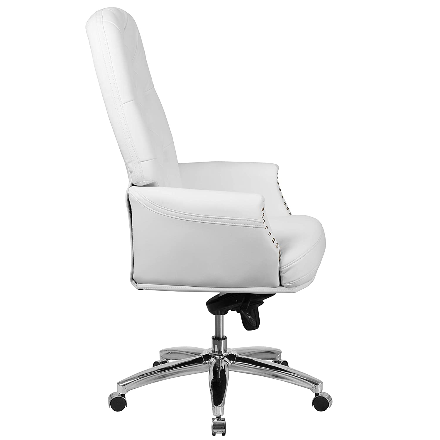 Cool Flash Furniture High Back Traditional Tufted White Leather Multifunction Executive Swivel Ergonomic Office Chair With Arms Download Free Architecture Designs Osuribritishbridgeorg