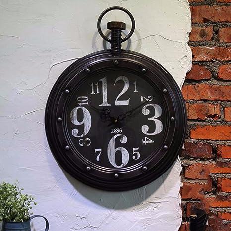 Reloj De Pared Estilo Europeo, Retro, Viejo Y Nostálgicos Cafés ...