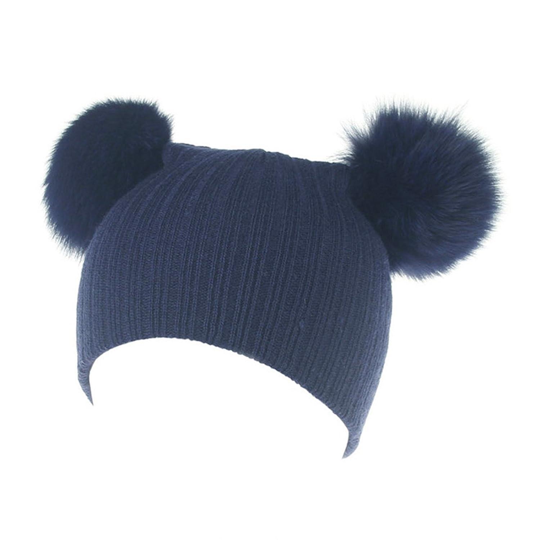 Winter Wool Knit Thick Soft Stretch Beanie Cap AWAYTR Baby Kids Toddler Warm Hat