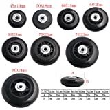 Forwardsell Black Luggage Suitcase / Inline Outdoor Skate Replacement Wheels with ABEC 608zz Bearings