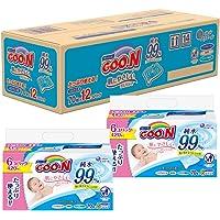 【整箱贩卖】GOO.N大王 婴儿柔湿巾 替换装 70抽×12袋(840抽)