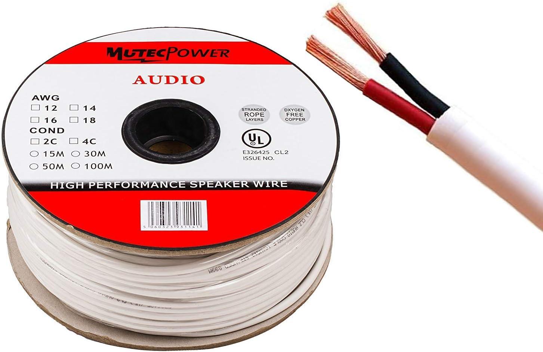 Mutecpower Speaker Cable 100 M 2 X 1 5 Mm Cl2 Rated Elektronik