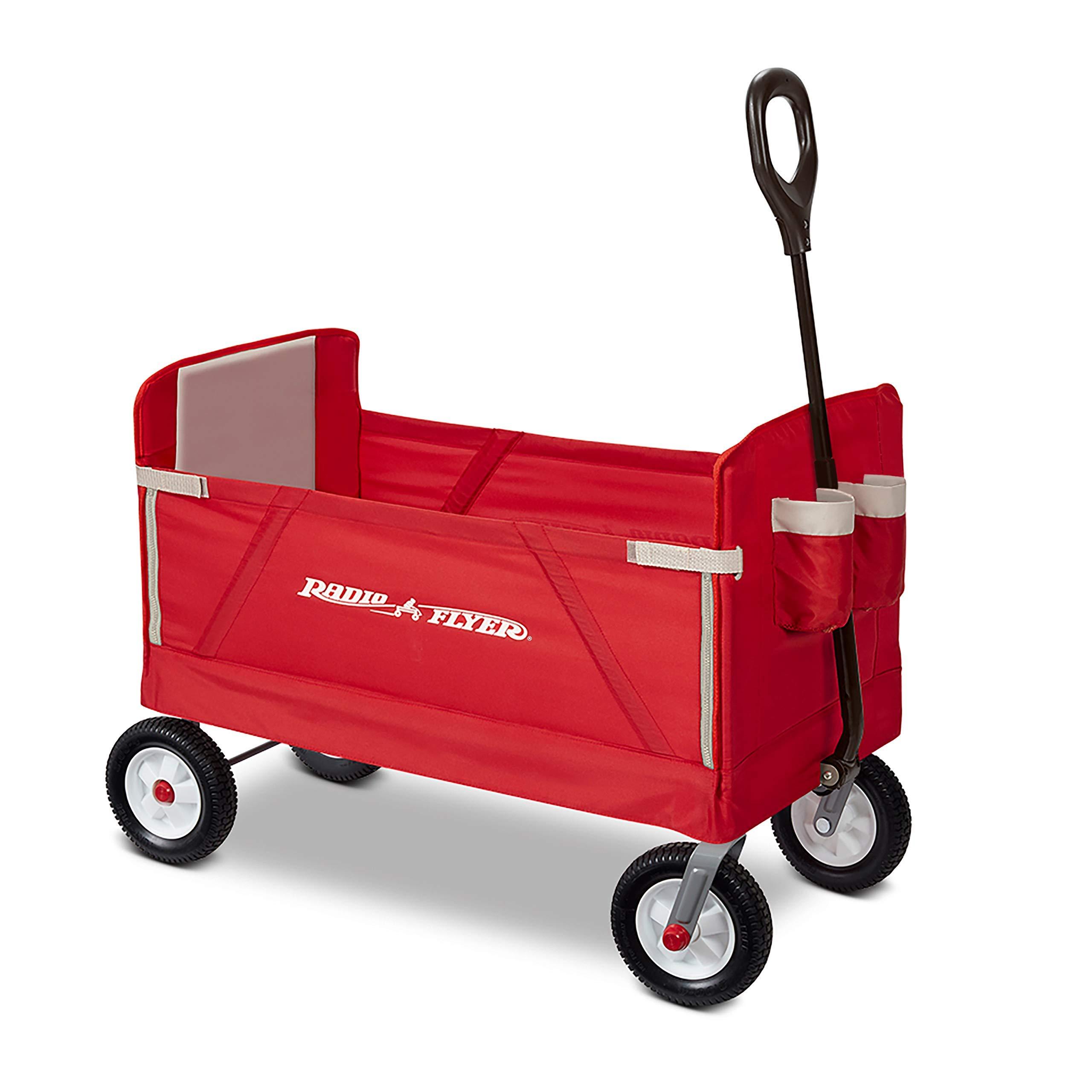 Radio Flyer All-Terrain 3-in-1 EZ Folding Wagon for kids and cargo (Renewed)