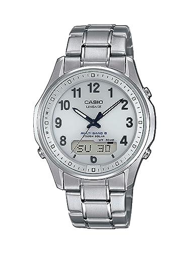 CASIO Reloj Analógico para Hombre de Cuarzo con Correa en Titanio LCW-M100TSE-7AER: Amazon.es: Relojes