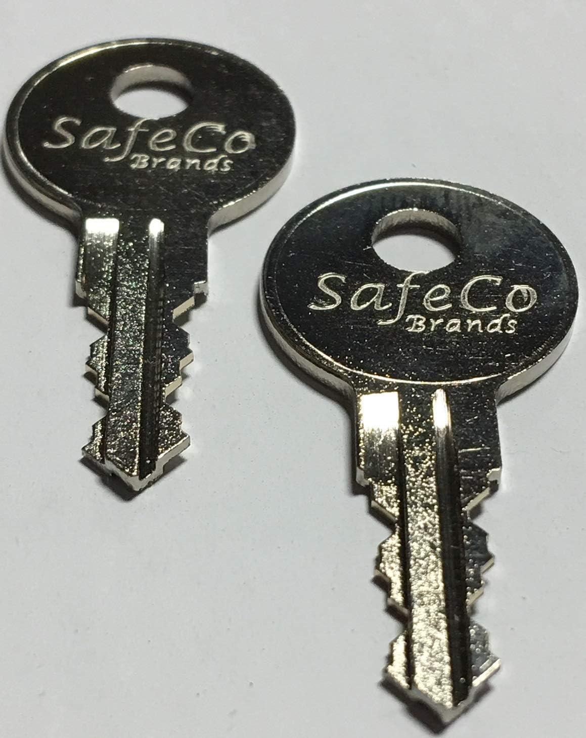 2-Keys For Better Built Tool Box Key Code Series J201 thru J220 SafeCo Brands J210