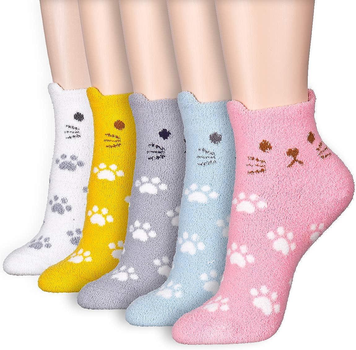 Dani's Choice Winter Warm Thick Knit Cozy Fuzzy Micro Crew Ankle Sneaker Socks