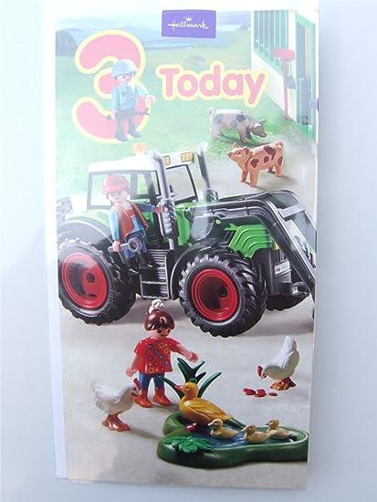 Playmobil tarjeta de cumpleaños para un niño de tres años ...