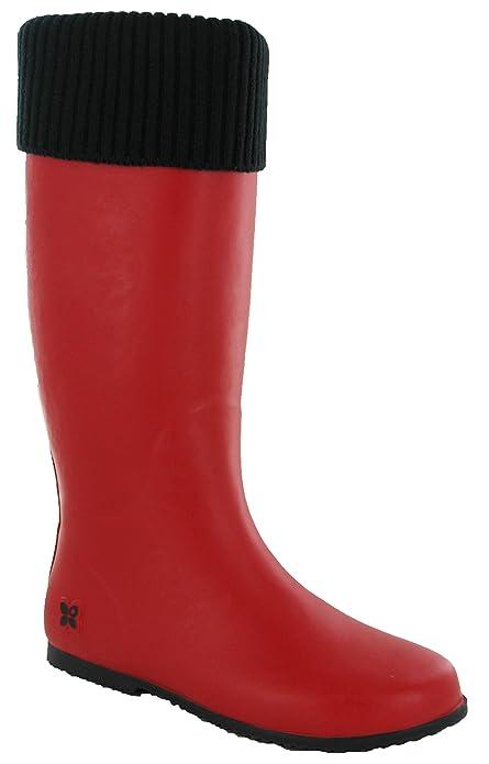 Butterfly Twists Damen Windsor Bootsschuhe, Rot (Red/Black), 40 EU