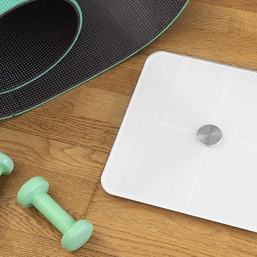 Cecotec Báscula de baño digital inteligente Surface Precision 9600 Smart Healthy. Alta precisión con conectividad,base cristal de alta seguridad ...