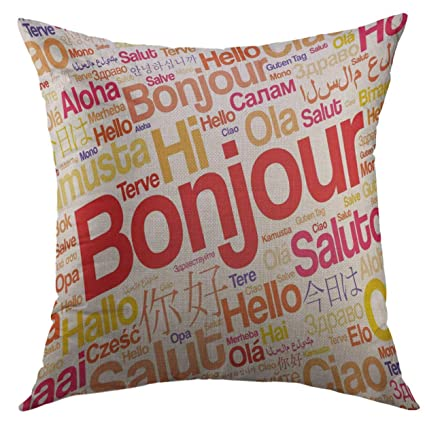 Amazon mugod pillow case foreign bonjour hello greeting in mugod pillow case foreign bonjour hello greeting in french word cloud different languages of the world m4hsunfo