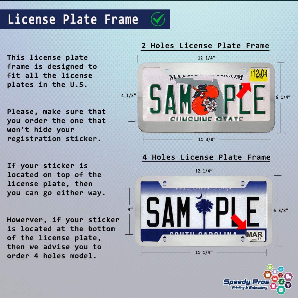Speedy Pros License Plate Frame Im A Proud Army Mom Zinc Weatherproof Car Accessories Black 2 Holes 1 Frame