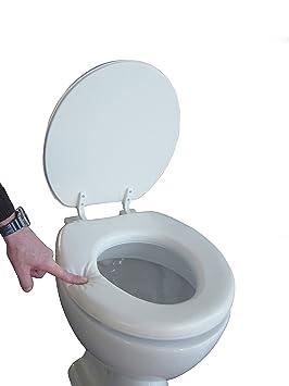 Siège de toilette rembourré couleur blanc