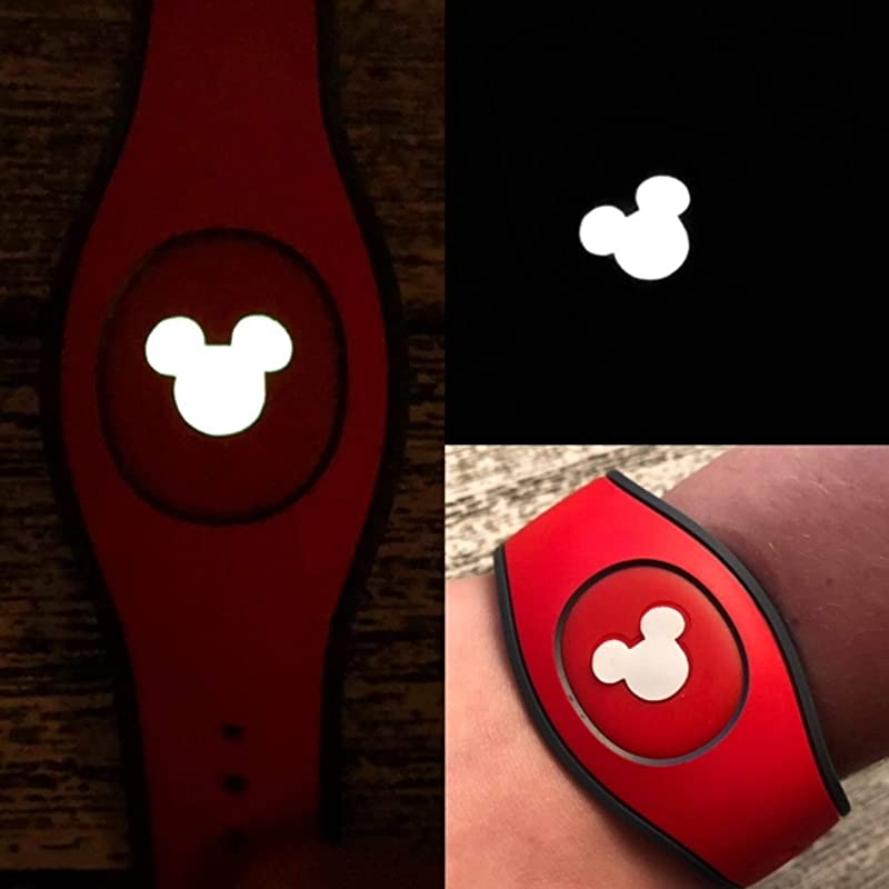 Silver Geodome MagicBand 2 Decal Glow in the Dark MagicBand Decal Fits Child /& Adult Bands RTS Ready To Ship