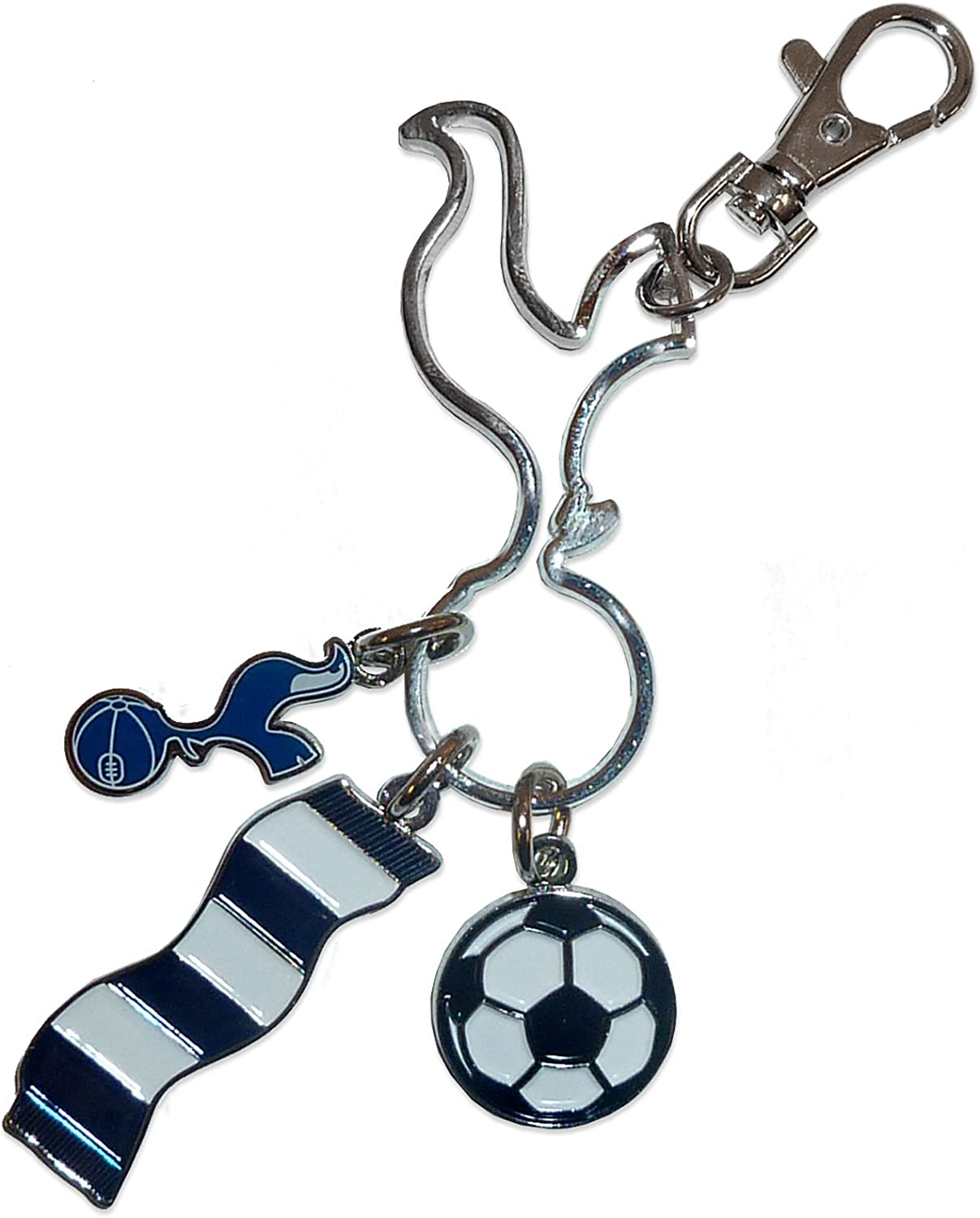 Official Tottenham Hotspur Fc 3 Piece Charm Keyring Crest Scarf Ball Version Amazon Co Uk Kitchen Home
