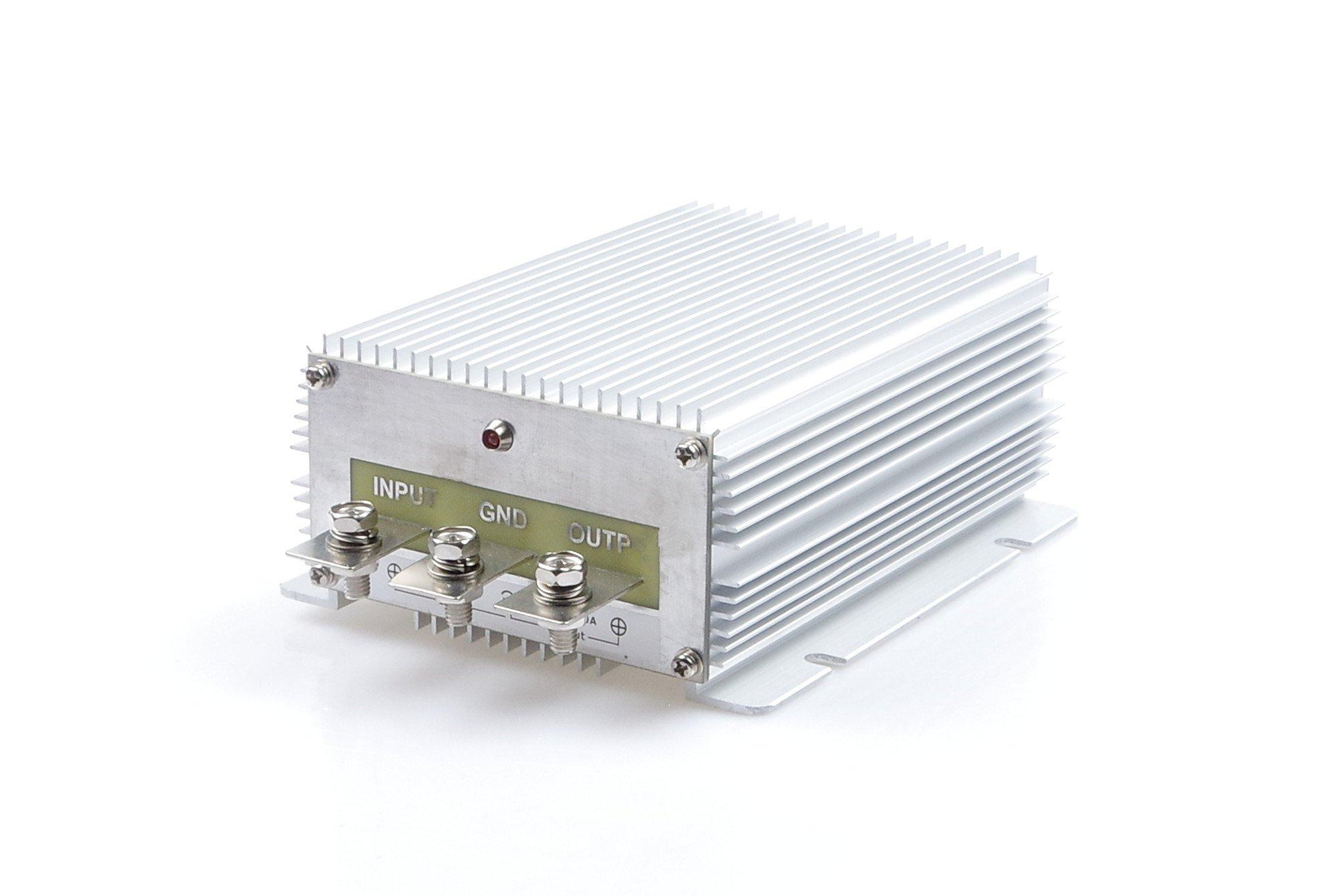 High-Power Voltage Converter Regulator DC 24V Step-down to DC 12V 60A 720W Car Truck Power Buck Transformer (DC 24V TO 12V 60A)