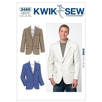 Amazon.com: Kwik Sew K3485 Blazer Sewing Pattern, Size S-M-L-XL-XXL ...