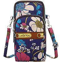 Amober Fashion Women Neutral Waterproof Nylon Zipper Cartoon Students Outdoor Sports Arm Bag Phone Bag Shopping Shoulder Bag