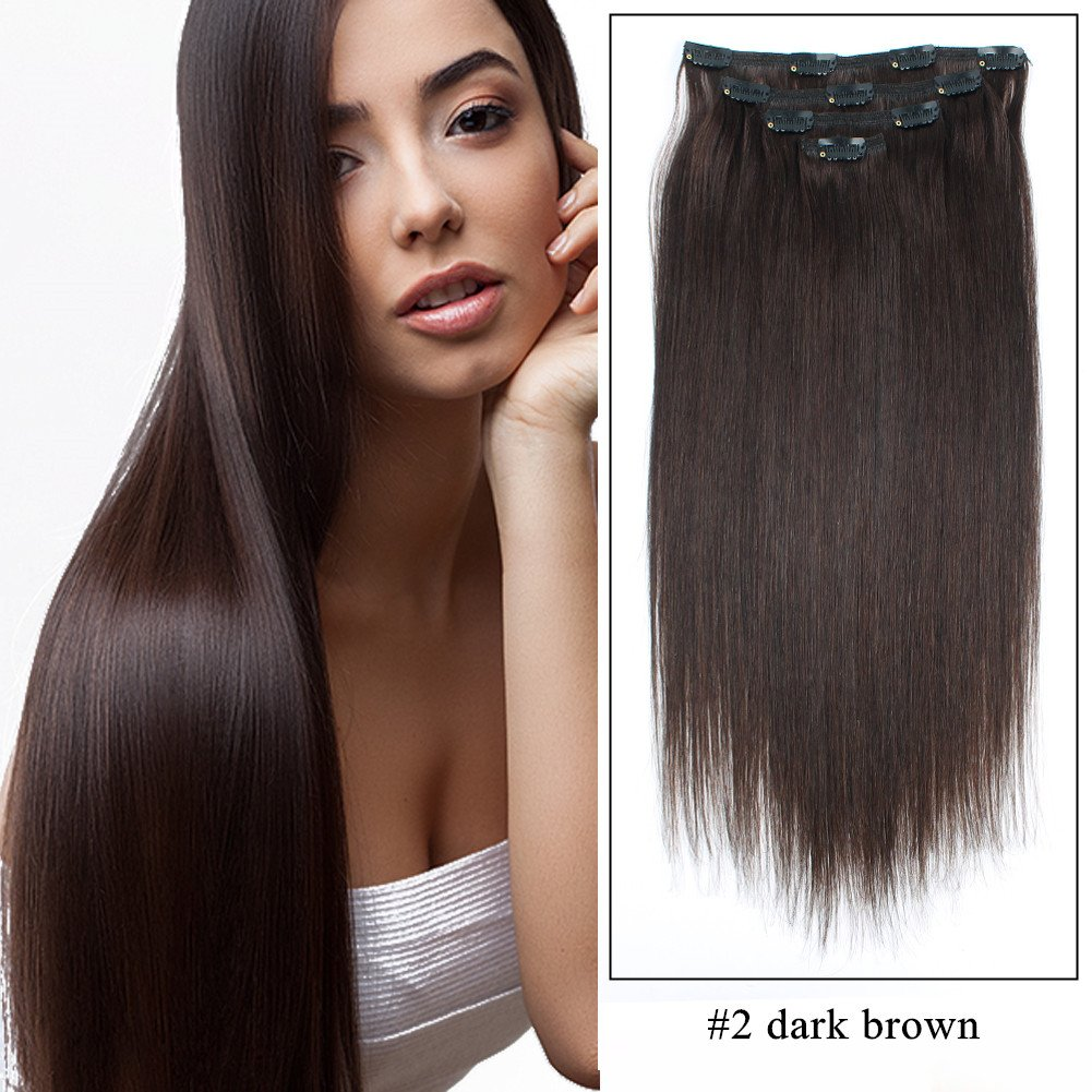 Amazon Sassina Luxy Hair Extensions Clip In Human Hair Silky