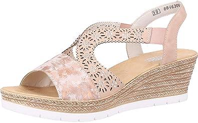 4f23dfc49d45d Amazon.com | Rieker Women's Synthetic Sandals | Platforms & Wedges