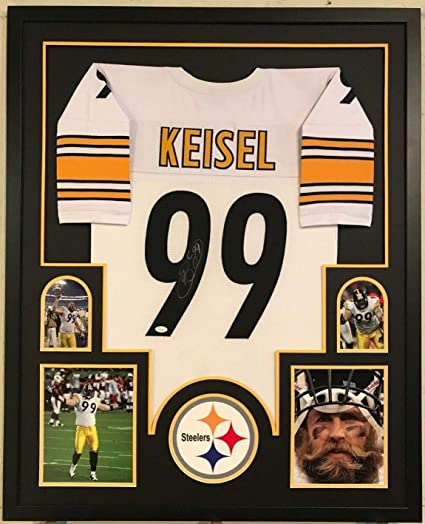 bb10a37f0 Image Unavailable. Image not available for. Color  Framed Pittsburgh  Steelers Brett Keisel Autographed Signed Jersey - JSA Authentic