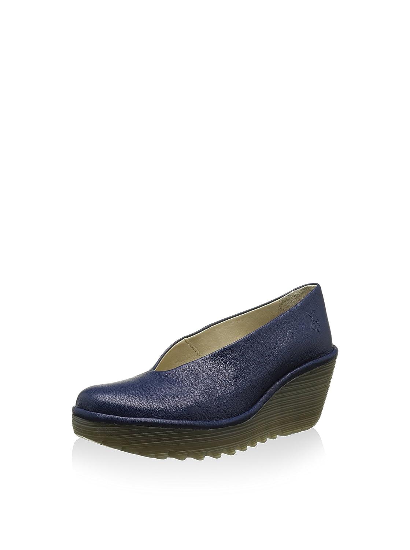 Blau (Blau 202) Fly London Damen Yaz Wedge Schuhe