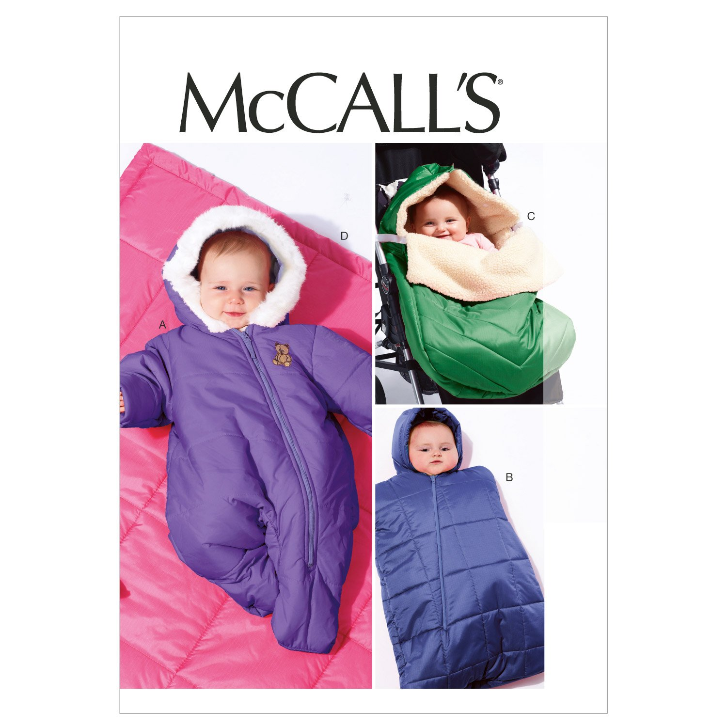 McCall's Patterns M6635 Infants' Snowsuit/Bunting and Blanket Sewing Template McCall Pattern Company M6635YA5