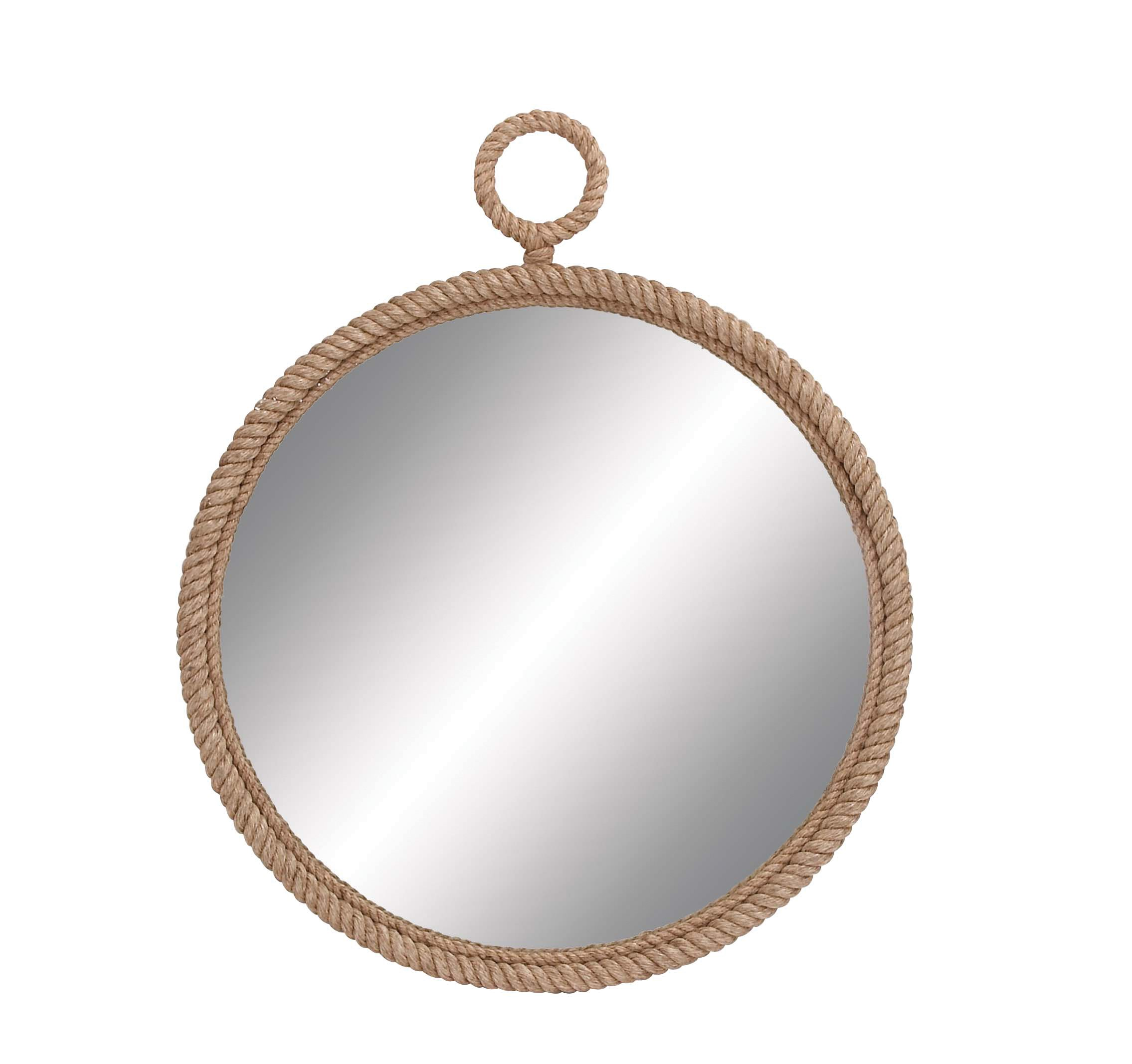 Deco 79 Wood Pier Rope Mirror, 36-Inch - Suitable to use as a decorative item Best for both indoor and outdoor use This product is manufactured in Philippines - bathroom-mirrors, bathroom-accessories, bathroom - 718WiZNt5pL -