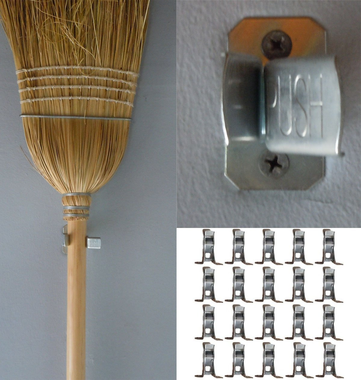 Genial Amazon.com: Bulldog Clamp (20 Pack) Spring Grip Garage Closet Wall  Organizer For Brooms, Mops, Rakes, Etc.: Home U0026 Kitchen