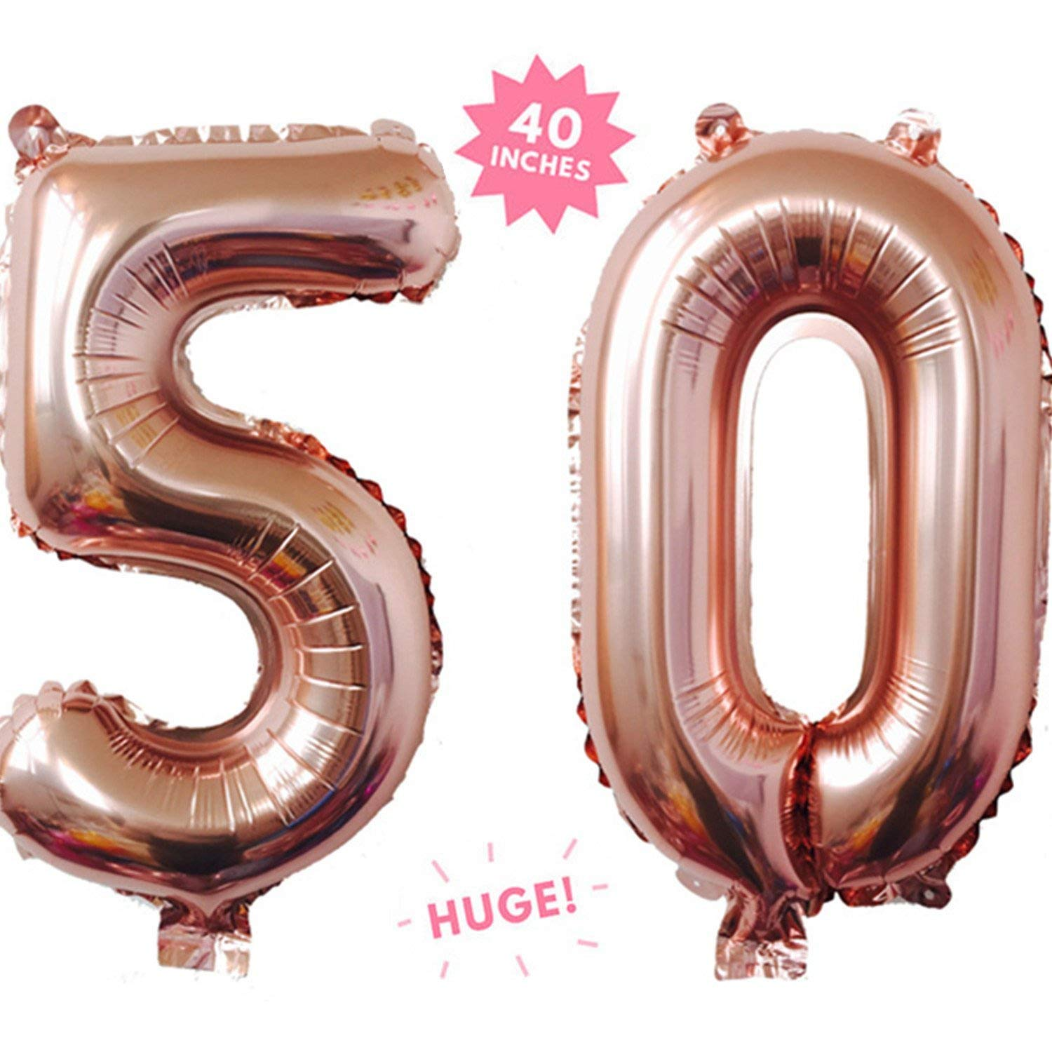 "40/"" Jumbo Rose Gold 0-9 Number Helium Grade Foil Party Age Balloons Decorations"