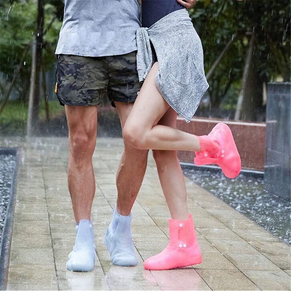 ACHICOO Couvre-Chaussures de Pluie réutilisables de Bottes d'équipement de Pluie recouvrant Les Chaussures imperméables Light blue 38/39