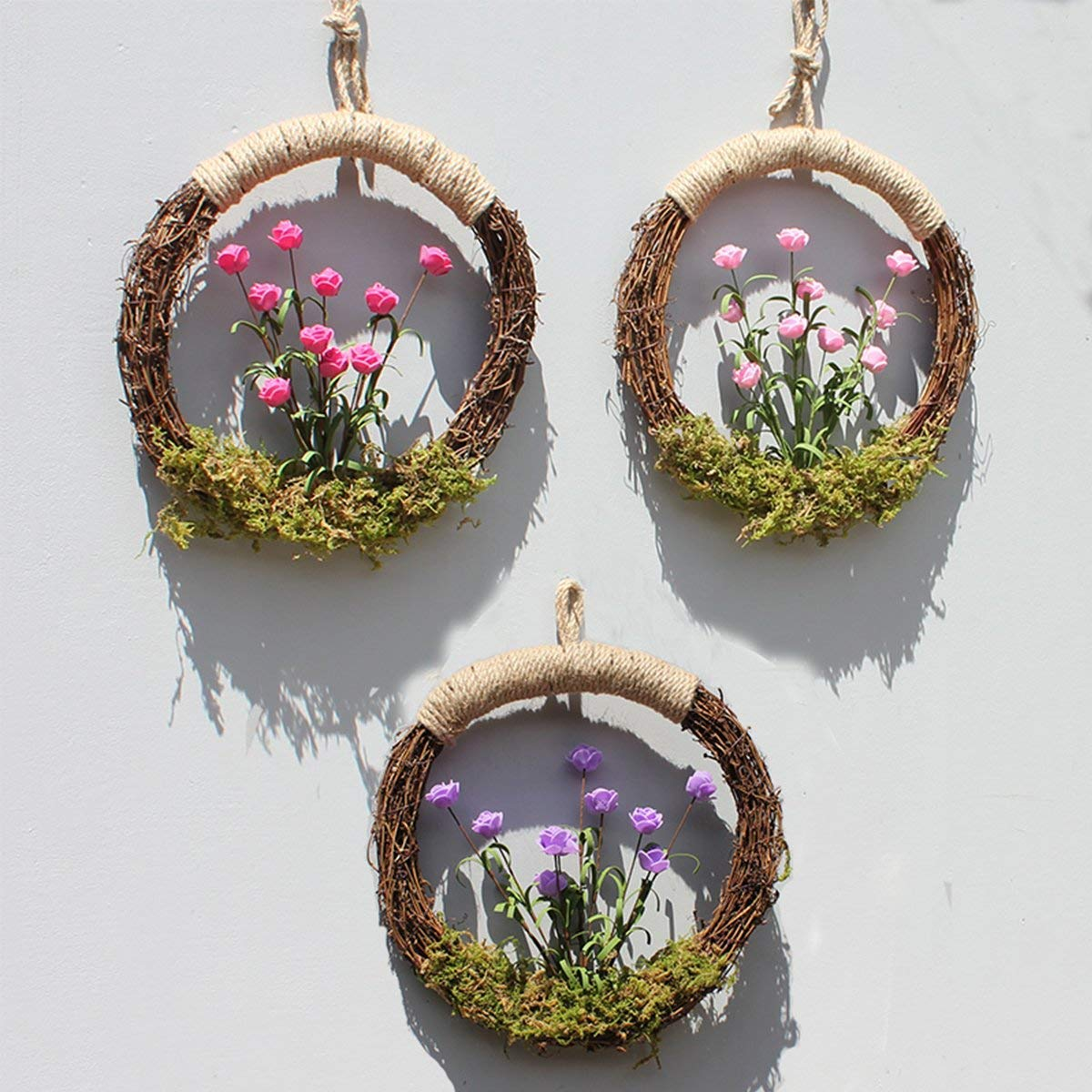 1pcs natural grapevine wreath ring wreath diy craft vines base grapevine roll for rustic summer fall christmas