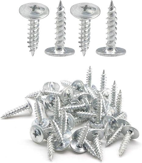 IMScrews 100pcs #8 x 3//4 Truss Head Screws Standard Thread Self Tapping Screws Wood Work MDF Zinc Plated