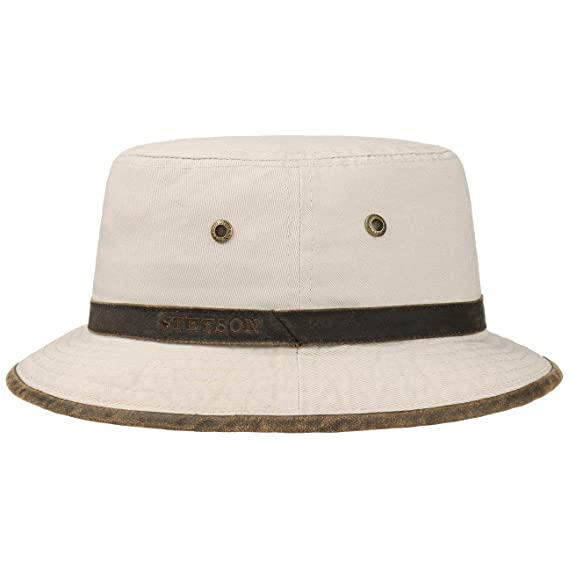 1aa53fa41 Stetson Washed Anti UV Bucket Hat Sun Hat Cotton Hat: Amazon.co.uk ...