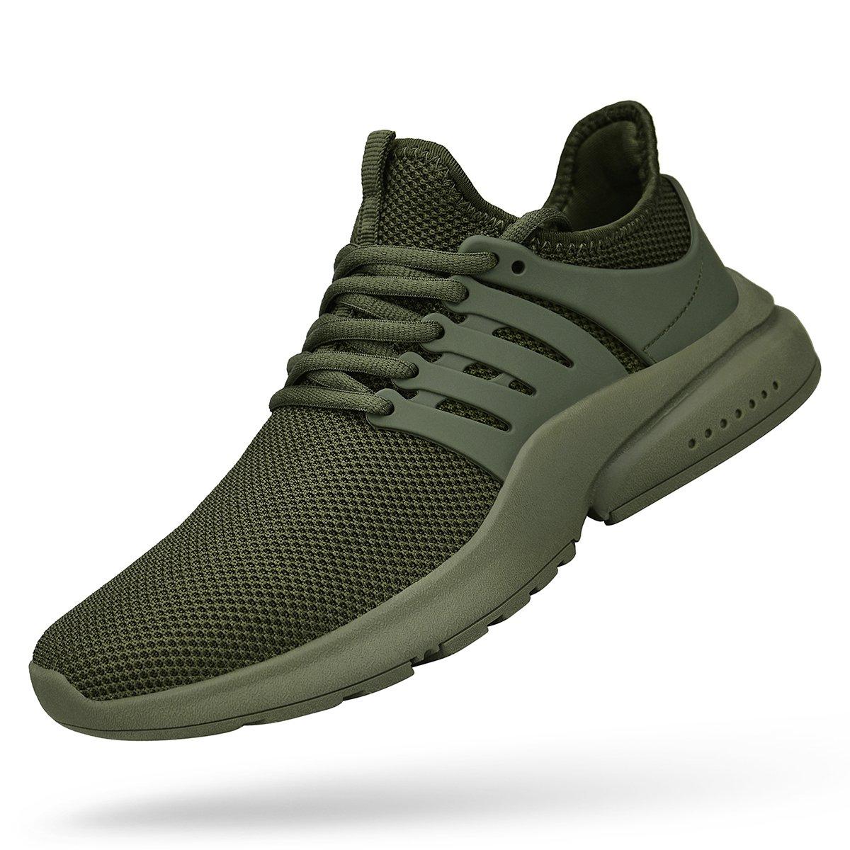 Green Mxson Women's Ultra Lightweight Breathable Mesh Street Sport Walking shoes Casual Sneakers