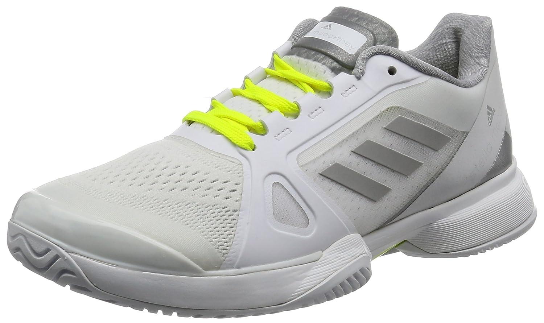 Adidas by Stella Mccartney Barricade 2017, Zapatillas de Tenis para Mujer 38 EU|Blanco (Footwear White / Universe / Solar Red)