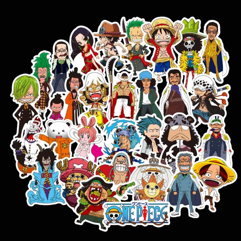 100PCS Kunandroc Anime ONE PIECE Luffy Anime Pegatinas para Port/átiles Calcoman/ía a Prueba de Agua Parachoques No-duplicado Skate Bicicleta Equipaje Decoraci/ón