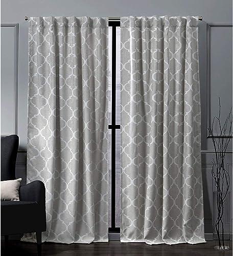 Nicole Miller Treillage Woven Blackout Hidden Tab Top Curtain Panel