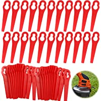 Cuchillas de Plástico Cortacésped,60pcs Cuchillas Cortador de Césped Repuesto,Cuchillas de Plástico Hierba,Cuchillas de…
