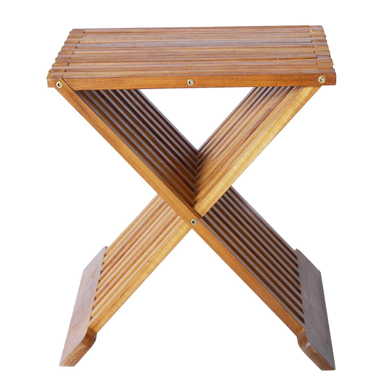 Amazon.com: WELLAND Teak Folding Shower Seat, 15-Inch: Health ...