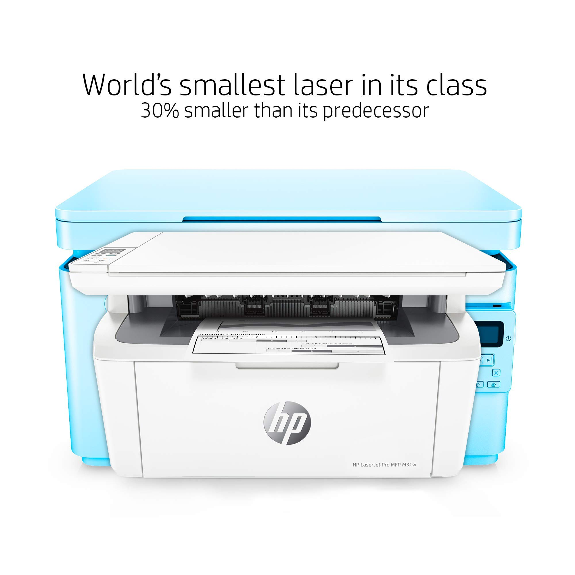 HP Laserjet Pro M31w All-in-One Wireless Monochrome Laser Printer with Mobile Printing (Y5S55A) (Renewed) by HP (Image #2)