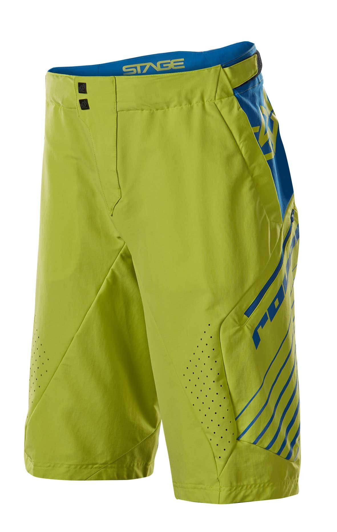 Royal Racing Stage 2 Shorts, Lime Green/Navy, XX-Large