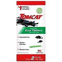 Tomcat Super Hold Glue Traps Rat Size, Contains 2 Rat Size Traps - Capture Rats...