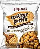 Popchips Nutter Puffs, Peanut Butter, 1 ounce, 24 Count