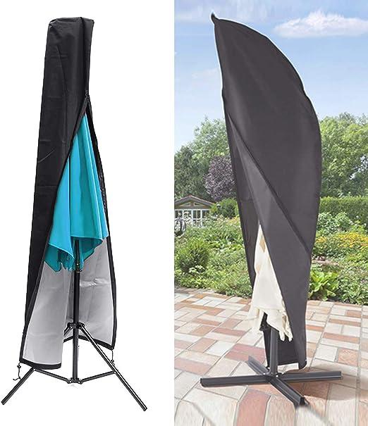 Awnic Schutzhülle für Sonnenschirm Abdeckung Sonnenschirmhülle Reißfest Wass