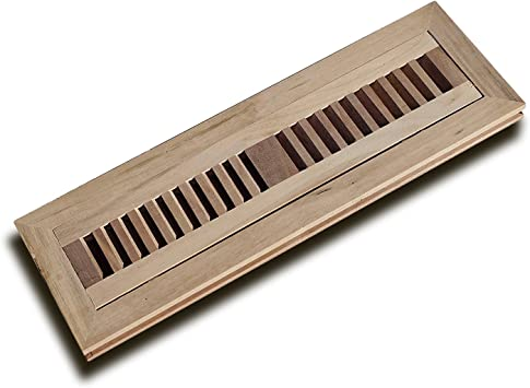3//4 in Thickness WELLAND 4 X 12 Inch Brazilian Walnut Wood Flush Mount Floor Register Vent Cover Grille Unfinished by WELLAND