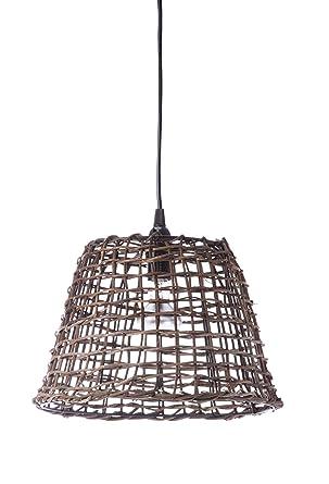 Lussiol 250263 - Lámpara de techo (mimbre, 60 W, 29 x 25 cm ...