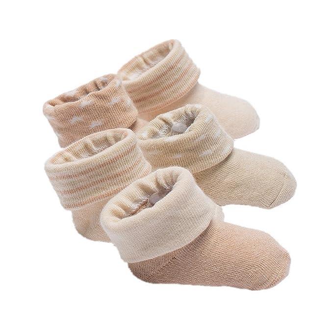 Calcetines de bebé, Auxma 5 pares Infantil bebé niños niñas calcetines de algodón suave calcetines